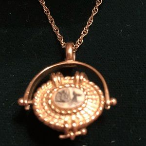 Necklace Nantucket Basket with penny inside